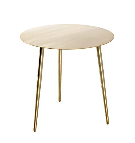 Haku Möbel Tavolino Basso, Acciaio, Oro, 45 x 45 cm