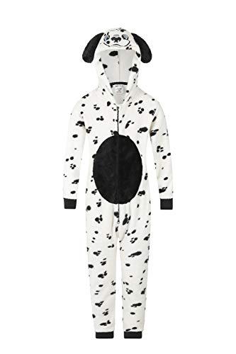 De PyjamaFactory Onesies Meisjes Dalmatische Bijpassende Jumpsuit Playsuit Supersoft Fleece Baby