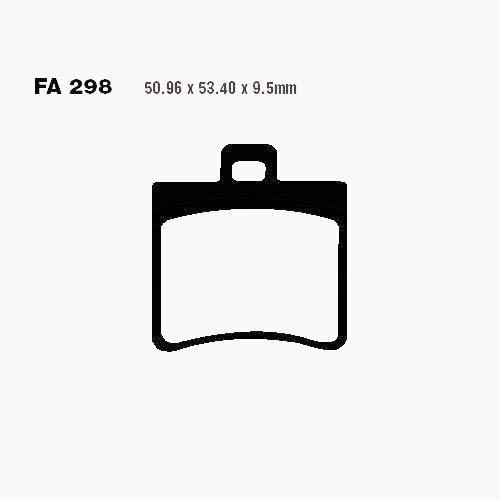 BREMSBELÄGE SCO EBC hinten SFA298 TGB Bellavita 125