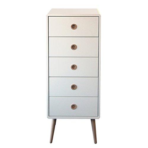 Steens Softline Kommode, 5 Schubladen, 41 x 105 x 39 cm (B/H/T), MDF, weiß