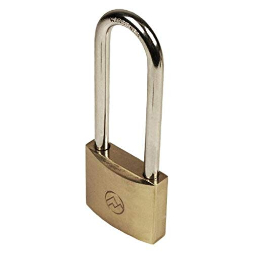"""FJM Security Products Mountain Series (BP125ALS-51) Solid Brass Padlocks, 1-1/4"""" Wide Keyed Alike, 2-1/8"""" Long Shackle"""