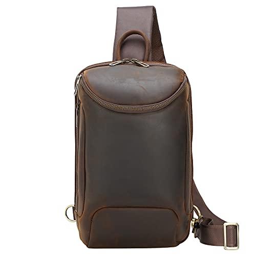 Vintage TIDING, borsa a tracolla da uomo, in pelle, borsa a tracolla, zaino da uomo, borsa a tracolla, borsa a tracolla, borsa da uomo, per viaggi, lavoro, sport, daykk, grande capacità