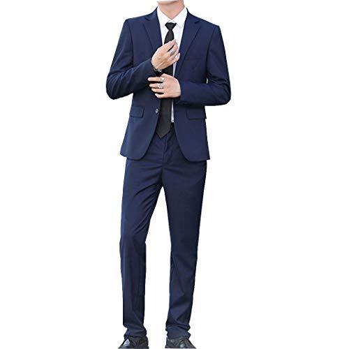 [Kira Sutsu]スーツ メンズ 2点セット 上下セット ジャケット スラックス 無地 2つボタン 礼服 結婚式 就職スーツ パーティー カジュアル