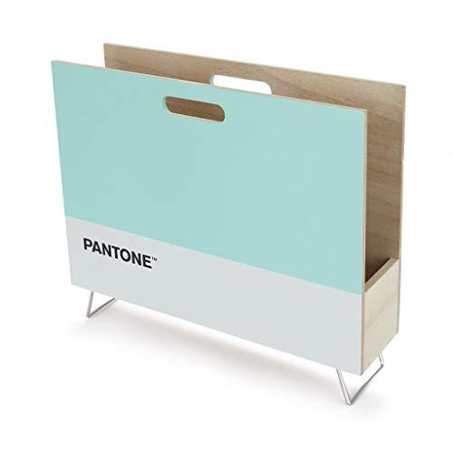 balvi Zeitungsständer Pantone Türkis Farbe Dekorative Veranstalter für Zeitschriften, Zeitungen, Dokumente, modern und minimalistisches Design Pantone MDF Holz 28x38x9 cm