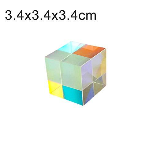 Cube Optisches Glas Würfel Prisma Kunst Kristall Foto Fotografie, Optisches Glas-Tripelprisma Mit Mehreren Farben 6 Seiten 4 Stück | Vollständiges Polierwürfel-Prisma-Set Für Tests Von Foto-Requisite