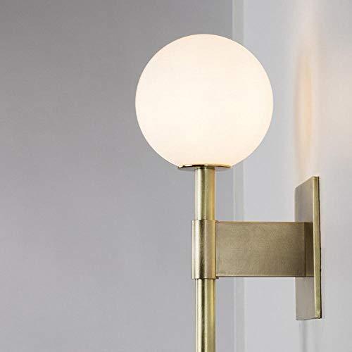 Glazen bol van gesatineerd messing met wandlamp Globe van gesatineerd glas voor badkamer nachtkastje restaurant -1_Light