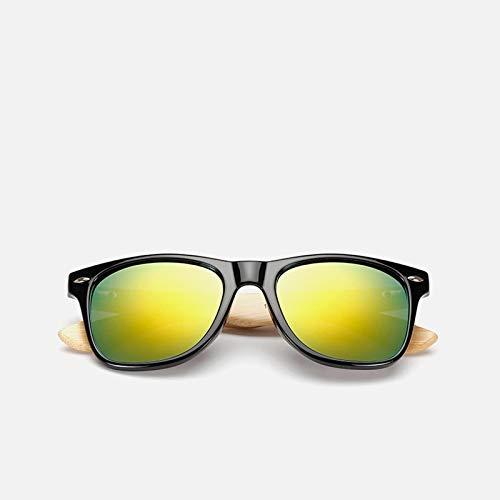 Occhiali da Sole Sunglasses Occhiali da Sole da Donna in bambù in Legno Occhiali da Sole da Uomo con Specchio Uv400 Occhiali da Sole in Vero Legno Occhiali da Sole da EST
