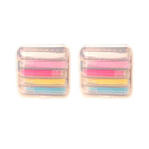 Exceart 2 Boxen Tragbare Reise Augen Kontaktlinsenentferner Tool Kit Pinzette Stick Inserter Set Mini Reise Kunststoff Kontaktlinsen Box Set (Gemischte Farbe)