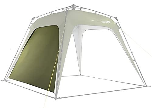 Lumaland Outdoor Seitenteil für Pop Up Pavillon Seitenwand für Gartenzelt Camping Partyzelt Zelt Dunkel-Grün