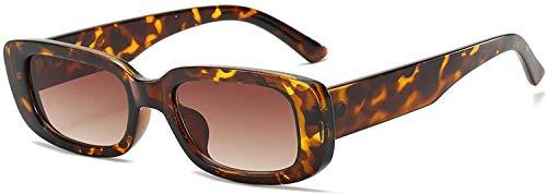 Dollger Gafas de sol rectangulares para mujer, estilo retro, con protección UV 400, montura cuadrada, color, talla Geeignet für alle Gesichtsformen