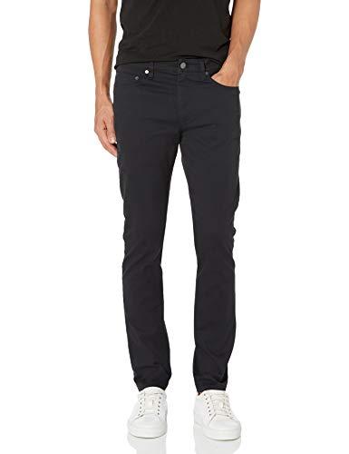 Amazon Essentials Men's Skinny-Fit 5-Pocket Stretch Twill Pant, Black, 32W x 30L
