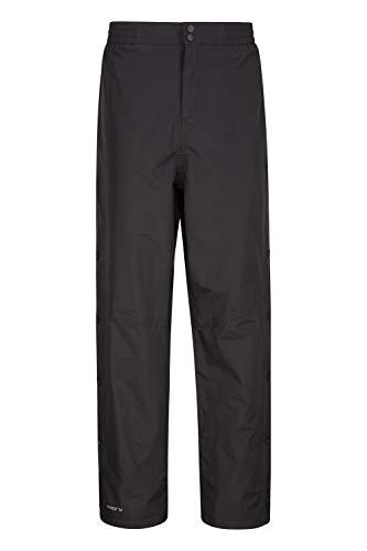 Mountain Warehouse Surpantalon imperméable Extreme Downpour Hommes- Pantalon de Pluie imperméable, Respirant, Anti-déchirure, Doublure Maille Noir XXL