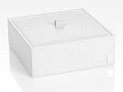 JOOP! Universal Box Homeline weiß in Leder Optik mit elegantem Flechtwerk Deckel