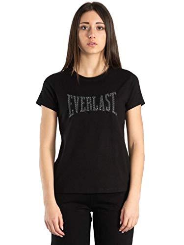 Everlast Camiseta de manga corta para mujer. Negro L