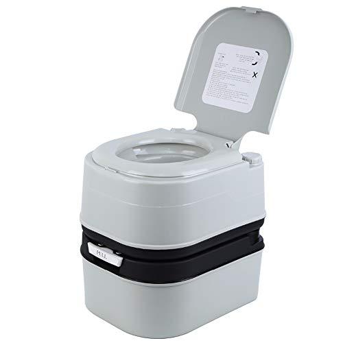 WYFDM 20L Toilette Portatile Tenda da Campeggio Esterna per la Toilette Portatile Coperchio per roulotte Viaggi Canottaggio Pesca Eimertoilette 120-130 kg
