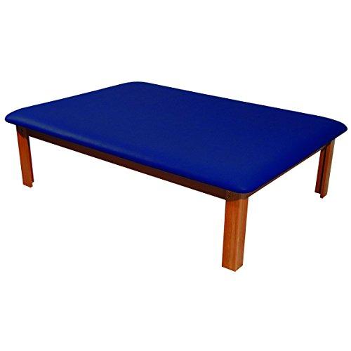 "3B Scientific W15072B Black Eucalyptus Wood Mat Platform Table, 72.5"" Length x 53"" Width x 20.5"" Height"