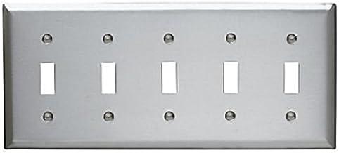 Two Gang Legrand-Pass /& Seymour Pass /& Seymour SSJ82 Duplex Receptacle Wall Plate 302//304 Stainless Steel