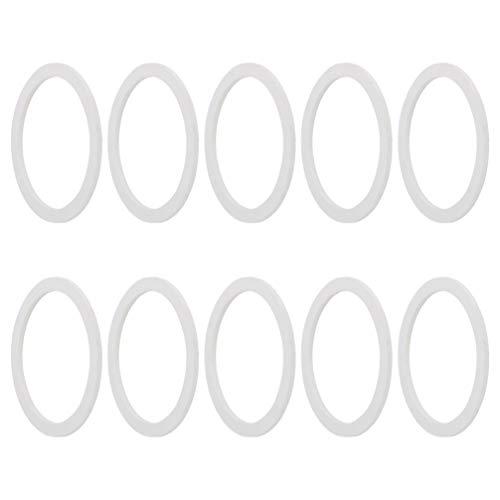 Hemoton 10 Stück Espressokocher Dichtungsring 2 Tassen Kaffeemaschine Ersatz Silikon Dichtringe Mokkakanne Dichtungsring Kaffeemaschinen Ersatzteile Espressomaschine Zubehör