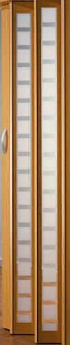 Falttür MARLEY New Generation Fb. Buchefarben - Fenster Karo weiss-satiniert B 86 x H 205 cm