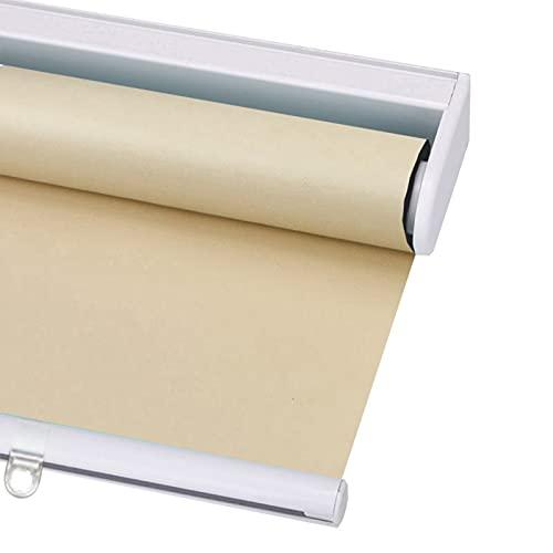 Tende A Rullo per Finestre, Ufficio Tenda Impermeabile 99% Parasole per Camera Oscurante, Fornisci Spazio per La Privacy, Isolamento Termico, Personalizzabile (Color : Beige, Size : 50x100cm)