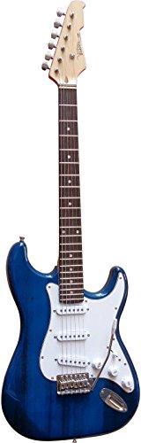 Guitare Electrique Strato 5 Coloris Au Choix ~ Avec Vibrato Et Câble (Bleu)