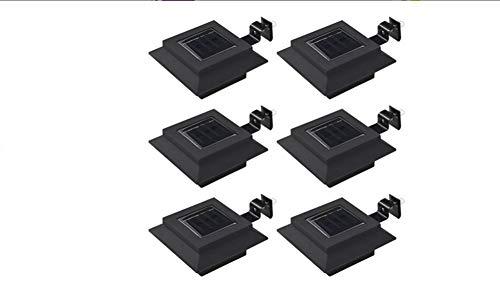 Lámpara solar para exterior, impermeable, 6 unidades, con batería AA preinstalada, para exterior, jardín, terraza, color blanco frío, 12 x 6,5 cm