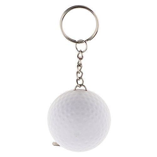 Hellery Kreativ 100 cm Tapeline Schlüsselring Golfball Anhänger Schlüsselring Kette Keychain