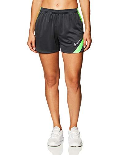 Nike Academy PRO Knit - Pantaloncini da Donna, Donna, Pantaloncini, BV6938-064, Grigio/Verde, M