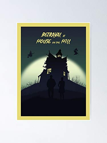 AZSTEEL Betrayal at House On The Hill - Board Game- Minimalist Travel Poster Style Gaming Art Poster 11.7 * 16.5