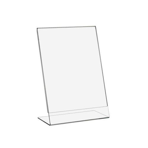10 Stück DIN A5 L-Ständer/Werbeaufsteller im Hochformat aus Acrylglas - Zeigis®