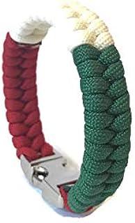 Italian American Flag Italy Mens & Women Paracord Survival Bracelet Jewelry