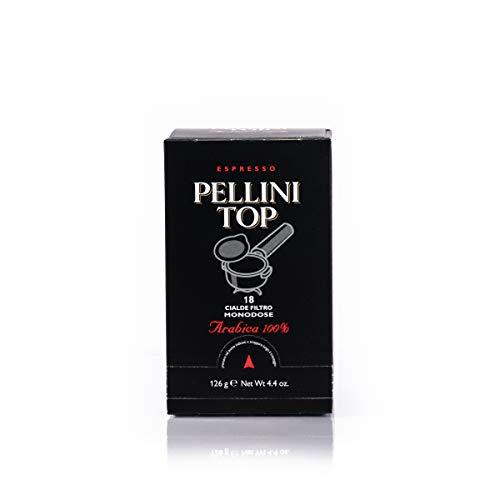 Pellini Caffè - Espresso Pellini Top Arabica 100% - Cápsulas Monodosis compatibles con máquinas espresso E.S.E. 44 mm - Pack de 6 x 18 (108 cápsulas)