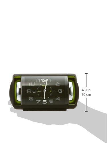 セイコークロック目覚まし時計アナログ大音量ベル音PYXISピクシスRAIDENライデン黒NR447KSEIKO
