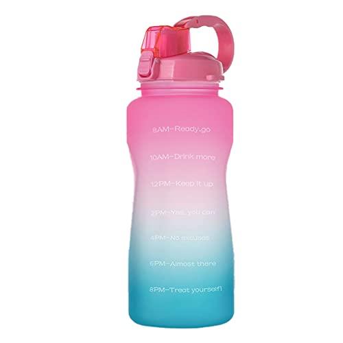 WTALL 2.2L Botella de Agua Deportiva de Gran Capacidad con asa a Prueba de Fugas Reutilizable para Exteriores