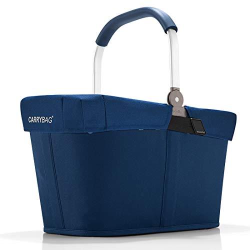 reisenthel Angebot Einkaufskorb carrybag Plus passendes Cover Sichtschutz Abdeckung (Dark Blue)