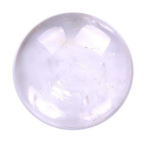 [テソロ] ルースストーン クォーツ (水晶) [ラウンドカボション] 約6mm ルース 1個 裸石 天然石 [並行輸入品]