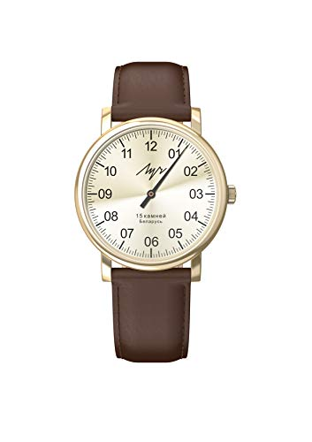 Reloj de pulsera mecánico de una sola mano. Esfera blanca. Nitruro de circonio. 377477761
