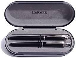 Schreibset - Füllfederhalter und Kugelschreiber in Lackschwarz