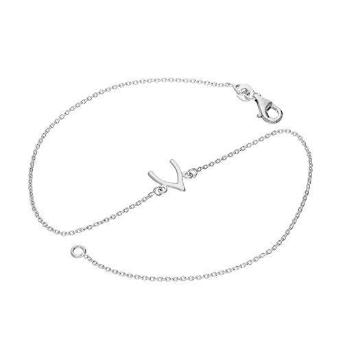 jewellerybox Sterlingsilber Wünschelrute Fußkettchen 25,4cm (10 Inches)