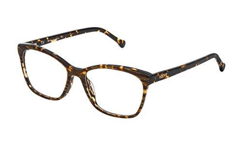 Loewe VLWA07M5309YC Monturas de gafas, Streaked Havana/Brown, 55 Unisex