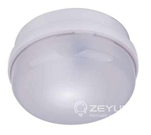 ZEYUN Microwelle Bewegungsmelder Bewegungssensor Mikrowellensensor für Innen und Außenbereichen, Deckenmontage, 360°, 10m Reichweite, IP65