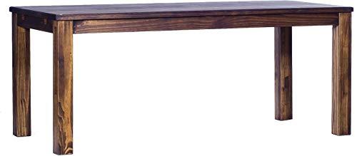Brasilmöbel Esstisch Rio Classico 200x80 cm Eiche antik Massivholz Pinie Holz Esszimmertisch Echtholz Größe und Farbe wählbar ausziehbar vorgerichtet für Ansteckplatten