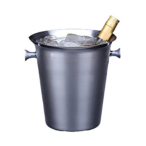 Cubo De Hielo Doméstico De Acero Inoxidable, Enfriador De Cócteles De Vino Champán, Enfriador De Cerveza Para Fiestas, Gran Capacidad Y Fácil De Limpiar