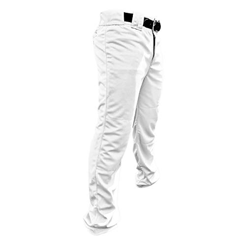 Stock PRO-Weight Poly Pant-Open Hem, White, M (2540A-06-M)