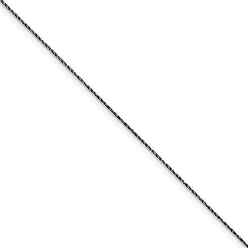 Plata de ley de Rutenio-en 75 millimeter. Fancy diamond-cut pulsera de cadena de serpiente - cm...