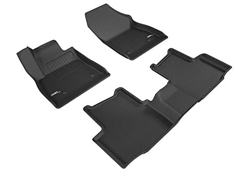 3D MAXpider All-Weather Floor Mats for Chevrolet Cruze 2016 2017 2018 2019 2020 Custom Fit Car Floor Liners, Kagu Series (1st & 2nd Row, Black)
