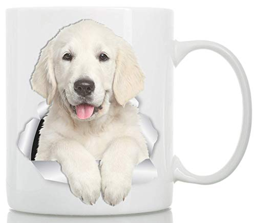 Tazza Stupendo Golden Retriever – Tazza da Caffè in Ceramica soggetto Cane Golden Retriever per Amanti dei Cani – Il Regalo Perfetto con soggetto Golden Retriever (330 grammi)