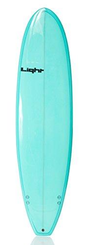 Light Erwachsene Surfboard WTF Resin, Resint Tint Turquoise, 7'4