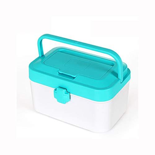 Zoavash Haushaltsmedizin Box Mehrschichtige Kunststoff Medizin Aufbewahrungsbox Tragbare Verbandskasten Mehrfarbig Optional Hyococ (Color : B)