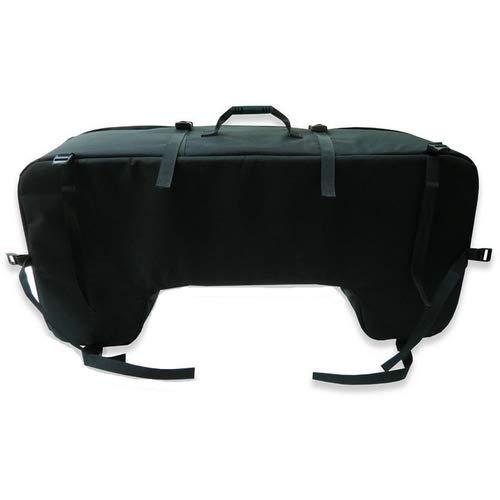 Bolsa para quad, montaje trasero, 93 x 27 x 43 cm, color negro
